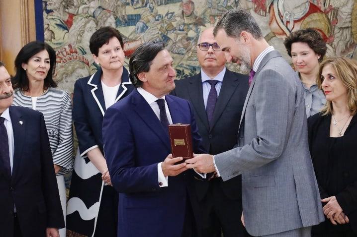 El rey Felipe ha recibido medalla de Oro del Colegio de Procuradores de Madrid