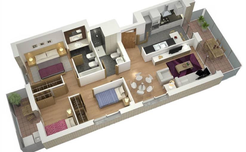 3 Habitaciones que requieren de la ayuda de servicio doméstico