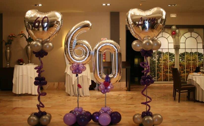 Los globos de números son muy útiles para celebraciones