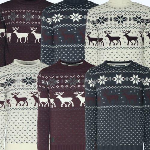 diferentes colores jerseys navidenos